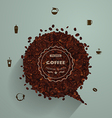 Coffee beans with empty speech bubbles vector image