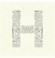Letter H Golden Monogram Design element vector image