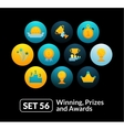 Flat icons set 56 - winning prizes and awards vector image