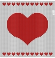 Valentines day knitted pattern vector image