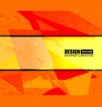 Background orange texture design vector image