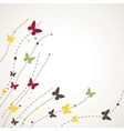 background with butterfly vector illustration vector image