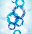 Blue abstract circles vector image