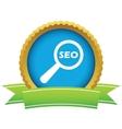 Gold seo search logo vector image