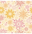 Warm stars seamless pattern background vector image