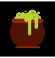 flat icon on background halloween witches cauldron vector image