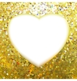 Yellow Gold frame in the shape of heart EPS 8 vector image vector image