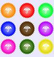 Umbrella icon sign Big set of colorful diverse vector image