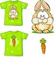 cute bunny printed on shirt vector image