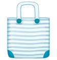 A blue handy bag vector image