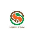 circle spoon fork logo restaurant vector image