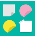 Adhesive paper notes and tag set Template vector image
