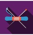 Blue yarn flat icon vector image