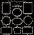 Set of vinatge frames on blackboard vector image