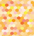 Abstract background orange hexagons vector image