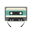 Audio compact cassette flat icon vector image