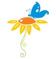 Butterfly on flower vector image