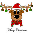 cheerful new years with a christmas deer vector image