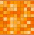 Color orangemosaic tile square background vector image
