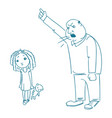 father scolds his daughter vector image