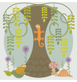 Life Under Tree vector image