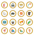 protest items icons circle vector image