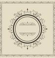 vintage round frame ornate calligraphic design vector image