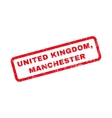 United Kingdom Manchester Rubber Stamp vector image
