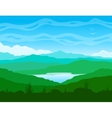Mountain landscape with blue lake vector image vector image