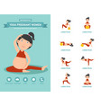 yoga pregnant women healthcare infographics vector image