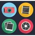 Photography icons with long shadow vector image vector image