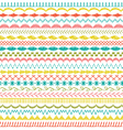 sewing stitch border patterns vector image