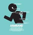 Symbol Of Runner Wearing Smartphone Armband vector image