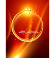 Christmas ball design vector image