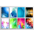 Set of Abstract modern backgrunds for flyer and vector image vector image
