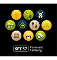 Flat icons set 57 - farm and farming vector image