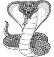 Angry cobra tattoo vector image