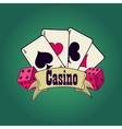 Casino and gambling emblem vector image