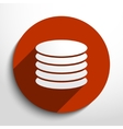 database web icon vector image