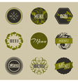 Elegant nature-themed badges in green vector image