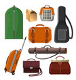 luggage with handle animal cage leather purse vector image
