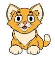 Smiling little kitten vector image