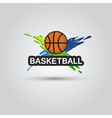 Ball symbol BasketBall Logo Badge Sport emblem vector image