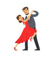 professional dancer couple dancing tango colorful vector image