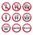 Gluten free no gluten warning signs vector image vector image