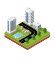 3D isometric icons vector image