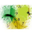 Grunge clocks vector image