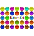 Set Golden Buttons with Patterned Gems vector image