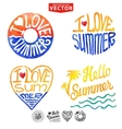 Abstract wtercolor cardbackgroundSummer logo vector image