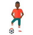 Football player with ball vector image